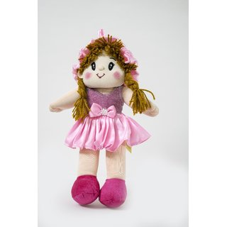 Baby Doll Girl  Monica Satin Girl  Pink Color by Lovely Toys