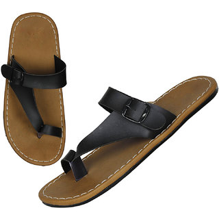 Leavess Men Brown Color Slippers For Men