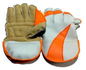 Boys Wicket Keeping Gloves. Color As per Availability, Age Around 14 Years