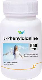 Biotrex L-Phenylalanine 550mg - 60 Veg Capsules