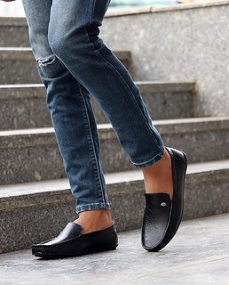 Evolite Black Stylish Loafers, Smart Casuals for Men and Boys