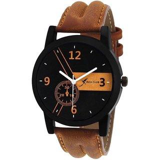 kayara fashion Rich Club DK-RC9989 TimeWalker Tan Coloured Watch - For Men