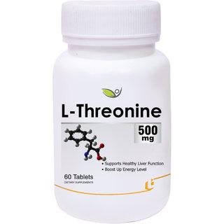 Biotrex L-Threonine 500mg - 60 Tablets