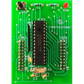 TEKNOWTASC PIC Microcontroller Development board, on board PIC16F876A, Crystal 4MHz, reset circuitry