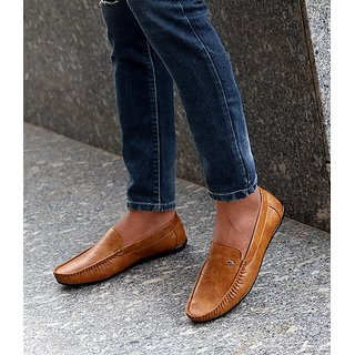 Evolite Tan Stylish Loafers, Smart Casuals for Men and Boys
