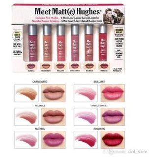 The Balm Meet Matte Hughes Lipstick set of 6