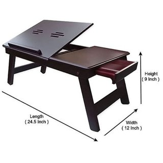 ST ENTERPRISES Solid Wood Portable Laptop Table (Finish Color Brown)
