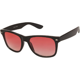 VESPL Black Full Rim Wayfarer UV 400 Protected Medium (Size-54) Sunglasses - V-2115