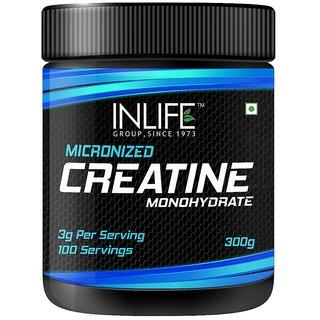 INLIFE Micronized Creatine Monohydrate Powder Supplement, 300 grams - Unflavoured
