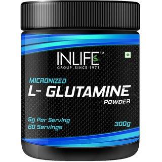 INLIFE Micronized L - Glutamine Powder Supplement  300 grams  Unflavoured