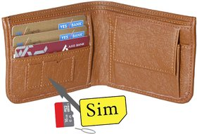 RK Brown Leatherite Bi-fold Wallet WS-01