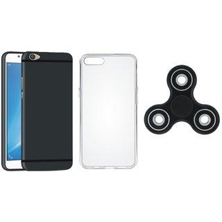 Samsung C9 Pro Silicon Anti Slip Back Cover with Spinner, Silicon Back Cover, Free Silicon Back Cover