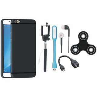 Vivo V7 Cover with Spinner, Selfie Stick, Earphones, OTG Cable and USB LED Light