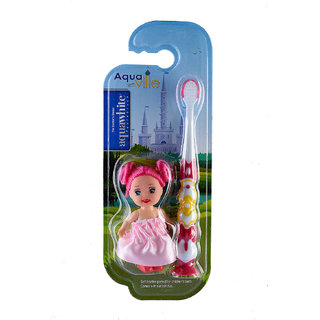 Aquawhite Aquaville with doll toy pink for kids ( pack of 1 )