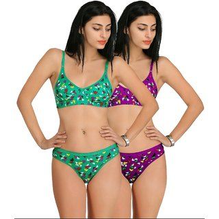 Low Price Mall Pack Of 2 Printed Bra ( Color  Print May Differ )