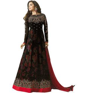 Drashti Dhami Designer Georgette Black Color Embroidery work WIth coding work Anarkali Suit SKU ER110102