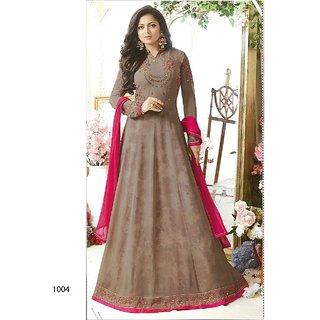 Drashti Dhami Designer Georgette Gray Color Embroidery work WIth coding work Anarkali Suit SKU ER110101