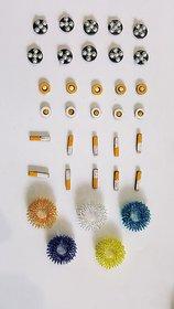 Sujok Therapy Acupressure Chakra Magnet, Sujok Five Star Magnet, Sujok Bar Magnet And Sujok Rings Set Of 5