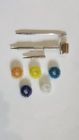 Sujok Therapy Acupressure Probe Metal Multipurpose Jimmy+ Metal Roller Dismandable Diagnostic Jimmys + 5pcs Sujok