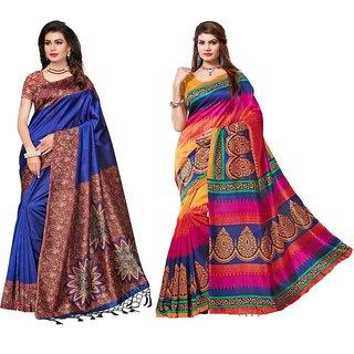 Indian Beauty Women's Multicolor Mysore Silk Combo Of 02 Sarees