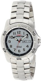 Timex Quartz Silver Dial Mens Watch-T46601