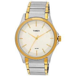 Timex Analog Beige Round Mens Watch-TW000X104