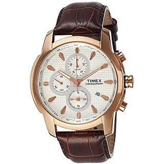 Timex Analog Beige Round Mens Watch-TW000Y505