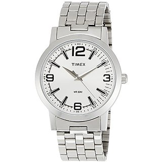 Timex Analog Silver Round Mens Watch-TI000T11200