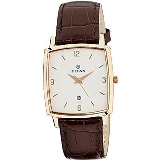 Titan Analog White Rectangle Mens Watch-9159WL01