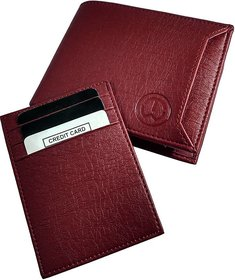 FRIENDS  COMPANY Stylish Brown Leather Wallet for Men (7 Card Slots)