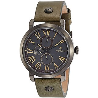 Titan Analog Grey Round Mens Watch-90049QL01