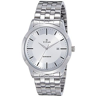 Titan Analog Silver Round Mens Watch-1584sm03