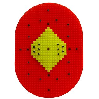 Acupressure Mat Bumper with Magnets Pyramids for Pain Relief and Total Health Useful for Heel Pain - Knee Pain