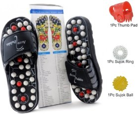 Acupressure Magnetic Therapy Yoga Accu Paduka Slippers for Full Body Blood Circulation Natural Leg Foot Massager spring