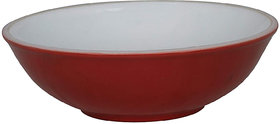 adaraforever Exclusive Metalic Red  White Opal Glass Bowl  Size Big 1Pc. SRE 3011
