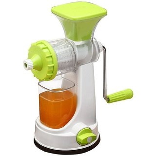 DarkPyro Fruit And Vegetable Plastic Juicer With Heavy Vacuum Based Surface And Steel Handle-Green