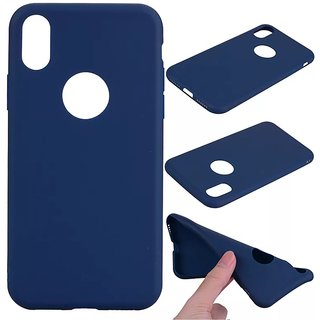 iPhone X Blue Ultra Thin Soft Back Case Cover