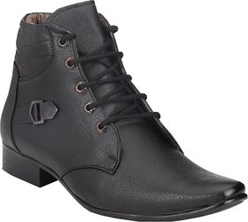 Real Black men Leather lace up AA534 Boot