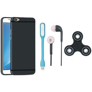 Vivo V5 Plus Back Cover with Spinner, Earphones and USB LED Light