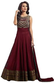 Florence Women's Embroidered Semi Stitched Dress Material