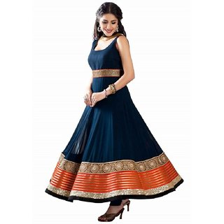 Florence Women's Georgette Anarkali Dress Material
