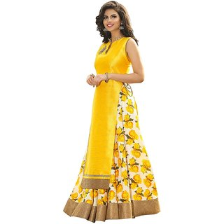 Florence Women's Art Silk Printed Salwar Suit Dupatta Material