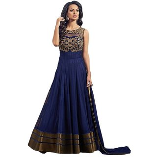 Florence Women's Net Semi-stitched Salwar suit