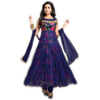 Florence Women's  Net Printed Salwar Suit Dupatta Material