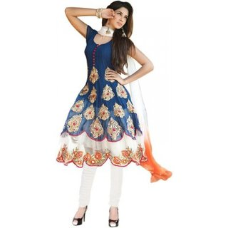 Florence Georgette Anarkali Semi Stitched Dress Material