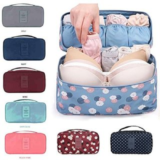 Readymart Undergarments and innerwear Storage Bag Travel cosmetic pouch for women, Toiletry Bag Organizer