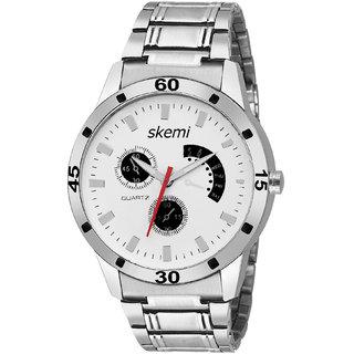 bc162dd8117 Buy Skemi Analog Round White Dial Men Watch   Fashionable Men Watch    Watches For Men -065 Online - Get 76% Off