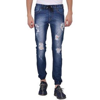 Rock Hudson Men's Denim Jogger - Regular Fit - Destress - Blue