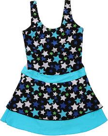 Enkay Girls Frock Style Printed Swimwear