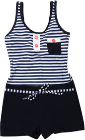 Enkay Short Style Half Plain & Half Printed Swimwear